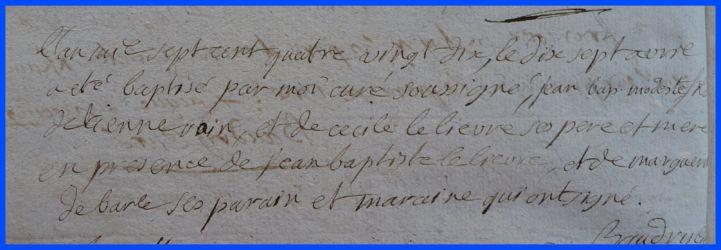 RAIN Jean-Baptiste Modeste né 17.04.1790