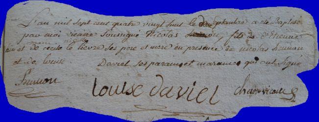 RAIN Nicolas né 02.09.1788