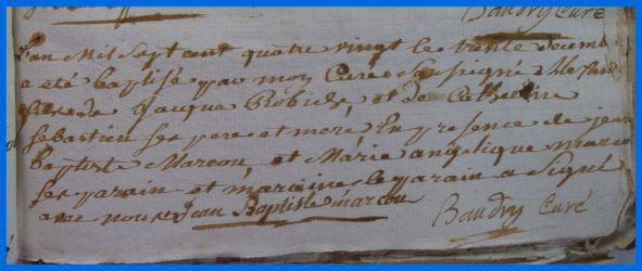 ROBICHE Alexandre né 30.12.1780