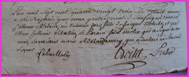 ROBICHE Catherine Adélaide née 08.03.1783