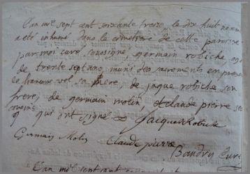 ROBICHE Germain 1737 dcd 18.11.1773
