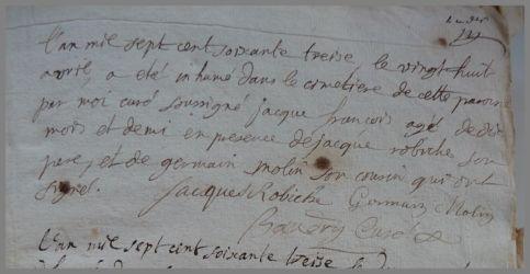 ROBICHE Jacques François 1772-dcd 28.04.1773