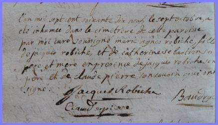 ROBICHE Marie-Agnès 1 ans dcd 07.10.1779