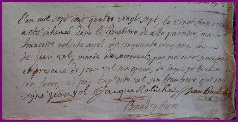 ROBICHE Marie-Françoise dcd 26.11.1787 à 55 ans