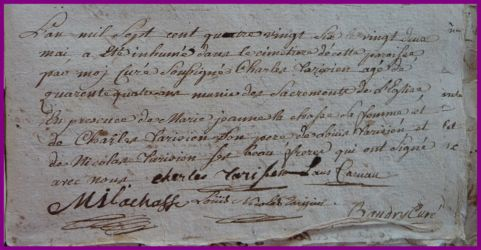 TARISIEN Charles 44 ans dcd 22.05.1786