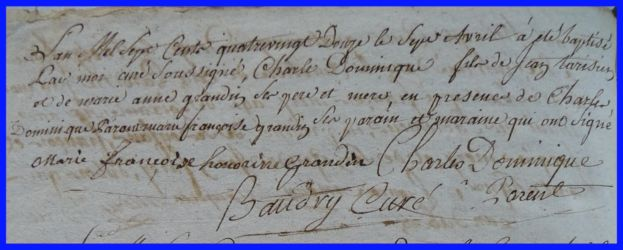 TARISIEN Charles Dominique né 07.04.1792