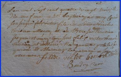 TARISIEN Félix Victor né 19.05.1783