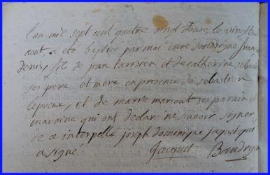 TARISIEN François Denis né 23.08.1792