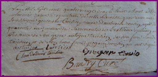 TARISIEN Geneviève 40 ans dcd 08.08.1790