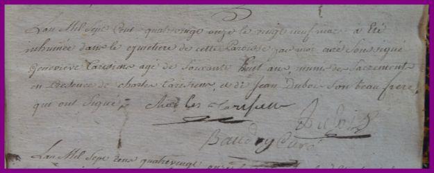 TARISIEN Geneviève 68 ans dcd 29.03.1791