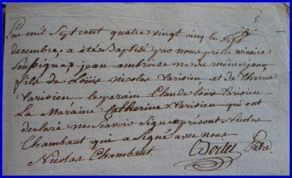 TARISIEN Jean-Ambroise né 07.12.1785