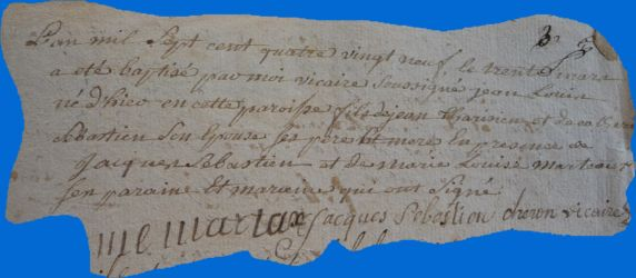 TARISIEN Jean-Louis né 29.03.1789
