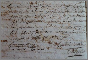 TARISIEN Jean dcd 20.03.1787
