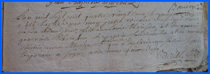 TARISIEN Louis né 15.10.1782