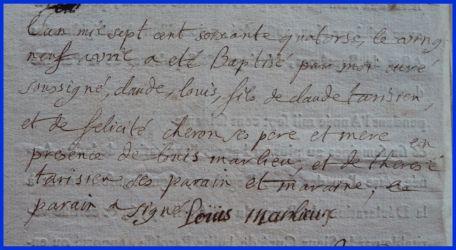 TARISIEN Louis né 29.04.1774