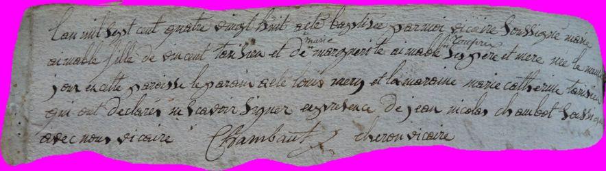 TARISIEN Marie-Aimable née 01.10.1788