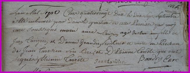 TARISIEN Marie-Anne dcd 17.09.1790 à 3 ans