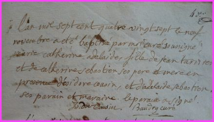 TARISIEN Marie-Catherine Adelaide née 09.11.1787