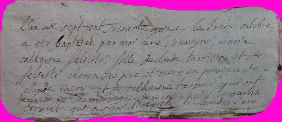 TARISIEN Marie-Catherine né 13.10.1775