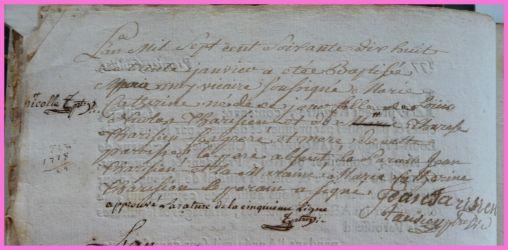 TARISIEN Marie-Catherine née 30.01.1778