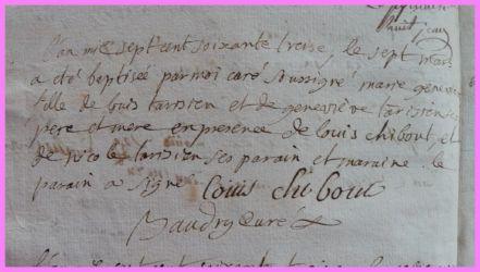 TARISIEN Marie-Geneviève née 07.03.1773