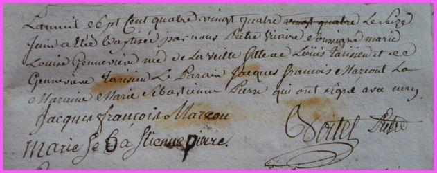 TARISIEN Marie-Louise Geneviève né16.06.1784