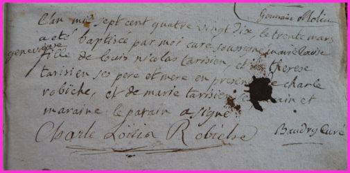 TARISIEN Marie-Louise Geneviève née 30.03.1790