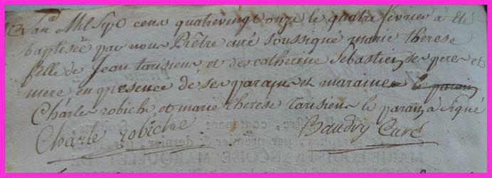 TARISIEN Marie-Thérèse née 04.02.1791