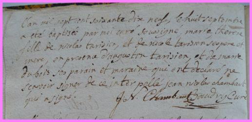 TARISIEN Marie-Thérèse née 08.09.1779