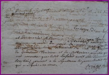 TARISIEN Mort-né 05.06.1786