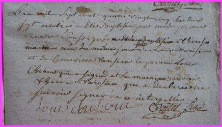 TARISIEN Thérèse Martine née 17.10.1785