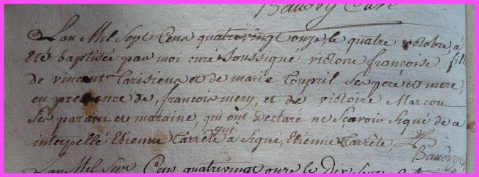 TARISIEN Victoire Françoise née 04.10.1791