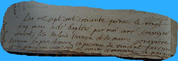 TARISIEN Vincent né 25.03.1775