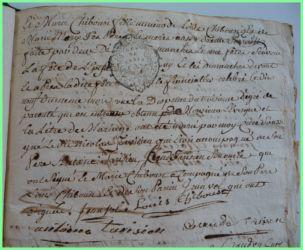 TARISIEN et CHIBOUST N°2 le 20.01.1777