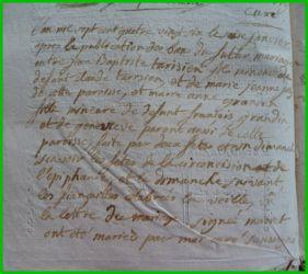 TARISIEN et GRANDIN le 16.01.1786
