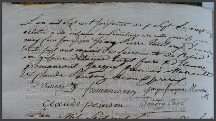 TARRETTE Jean-Pierre 1740-dcd 27.10.1777