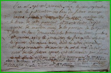 VILLENOY et TRIPET le 16.09.1776